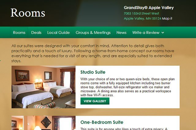 Individual Hotel - Rooms Page