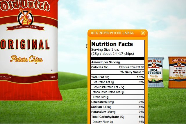 Product Detail - Nutrition Facts
