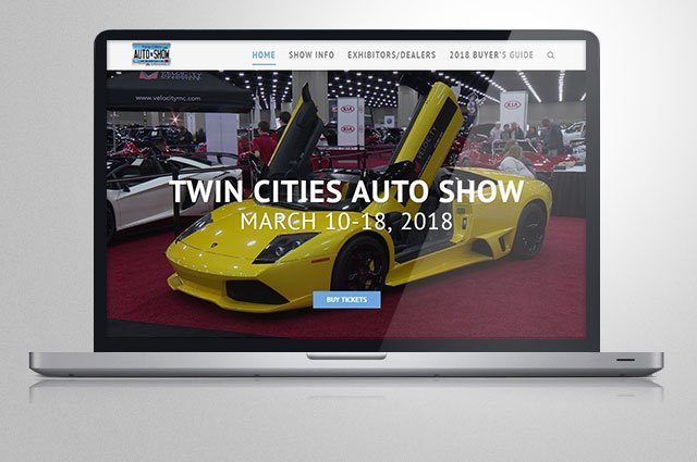 Twin Cities Auto Show's new website