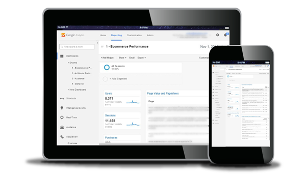 Custom Dashboard for Google Analytics